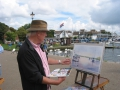 Painting on the Quay,Christchurch ,Dorset